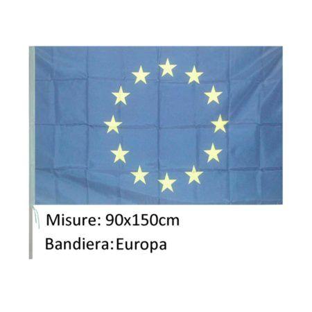Bandiera Europa in poliestere. misura 90*150. ottimo tessuto in poliestere. asola 35mm. senza asta.adatta per . hotel.albergo.pensioni.spiaggia.