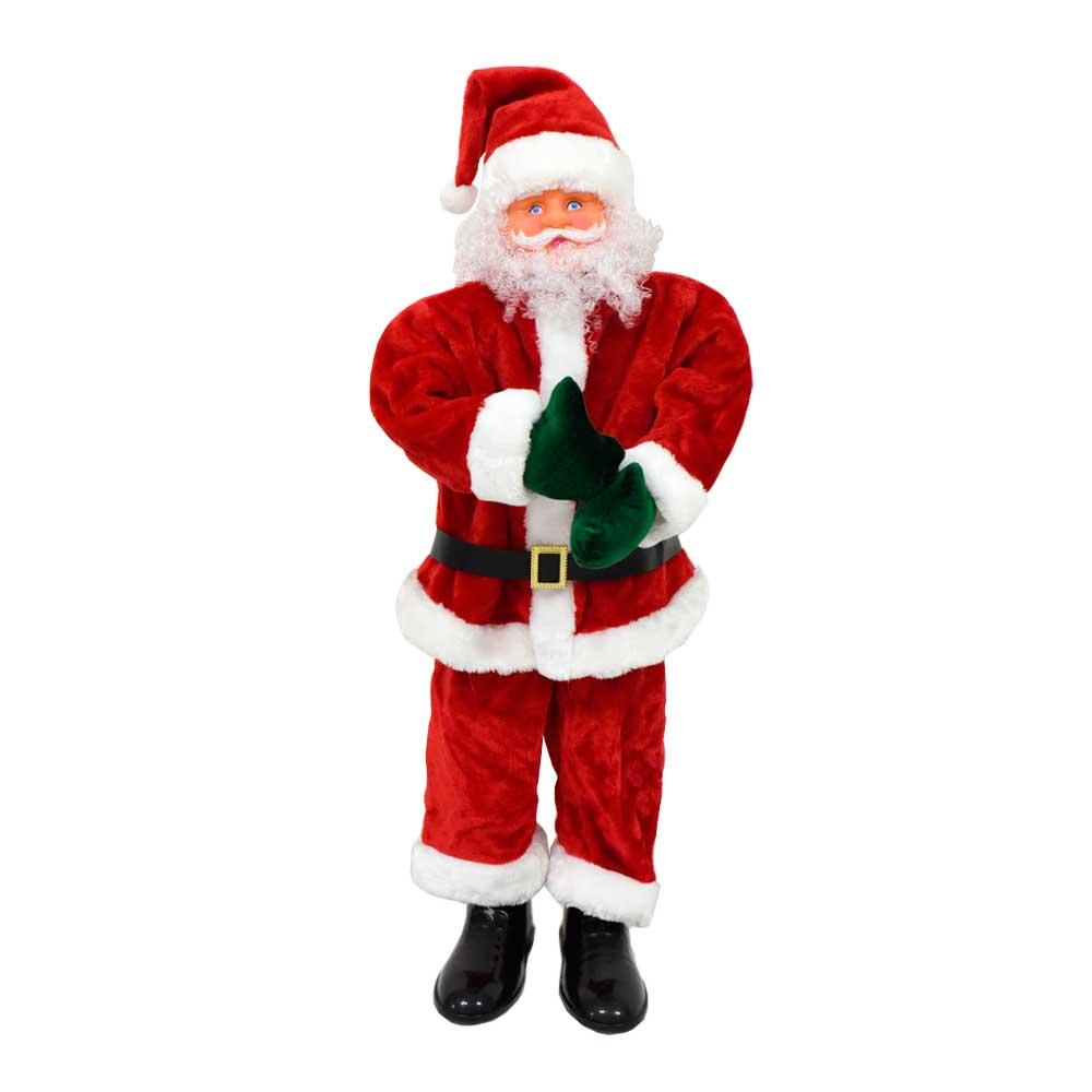 Babbo Natale Musicale.Babbo Natale Con Musica E Movimento 100cm Solofesta